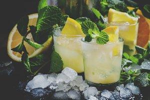 Alcoholic cocktail Morocco smash wit