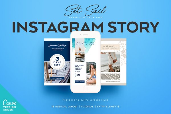 Templates: Andimaginary Creative Co. - SET SAIL Instagram Story Templates