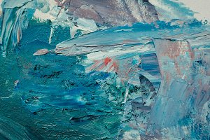 Texture mixed oil paints