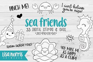 Sea Friends Digital Stamps and SVGs