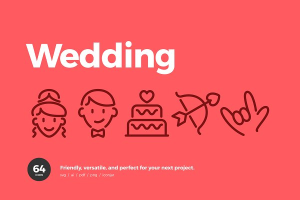 Graphics: Scott Dunlap - Wedding & Love Icons