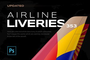 353 Airline Liveries + FREE Updates!