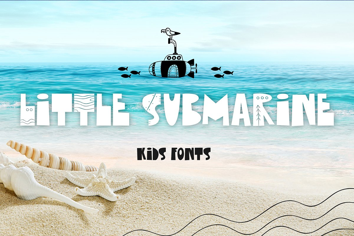 Little Submarine Kids Fonts in Display Fonts - product preview 8