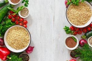 Green buckwheat vegetables