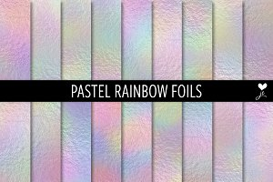 Pastel Rainbow Foils