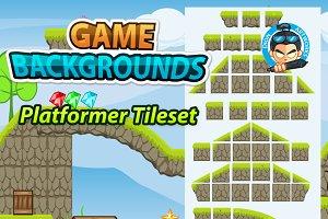 Game BG Platformer Tilesets 01