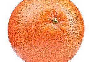 Whole orange grapefruit isolated on