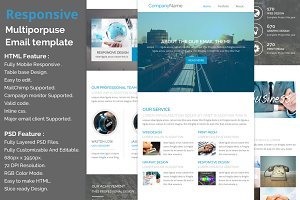 Responsive E-newsletter template