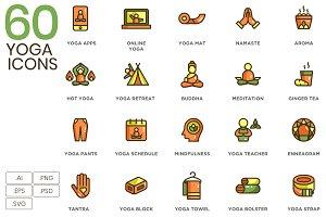 60 Yoga Icons