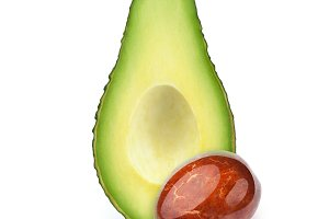 Avocado with separated oily stone