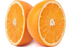Oranges isolated on white