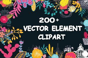 200+ Floral Vector Clipart