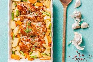 Chicken drumsticks dish