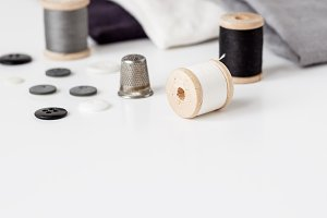 Styled sewing supplies