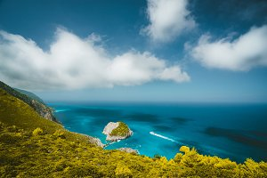Zante fantastic coastal view with