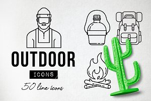 Adventure Outdoor Icons Pack