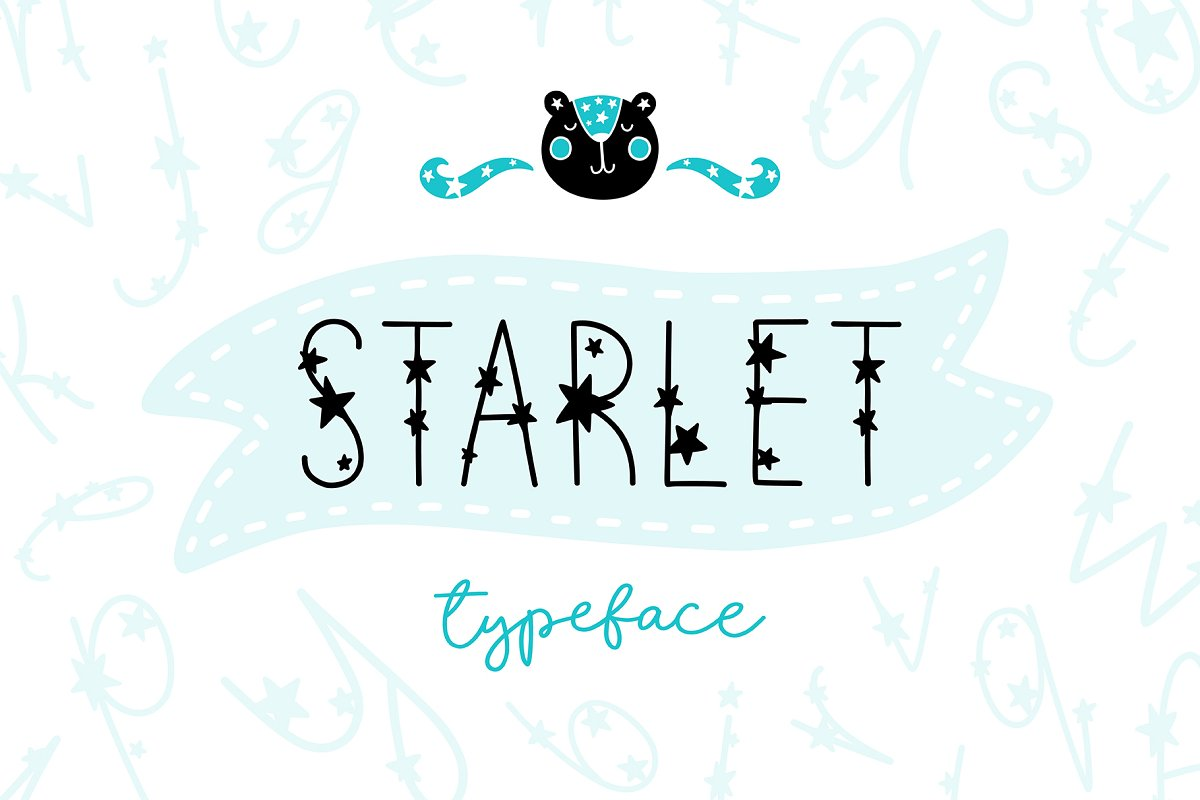 Starlet Typeface with Clipart! in Display Fonts - product preview 8