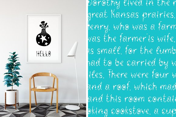 Starlet Typeface with Clipart! in Display Fonts - product preview 3