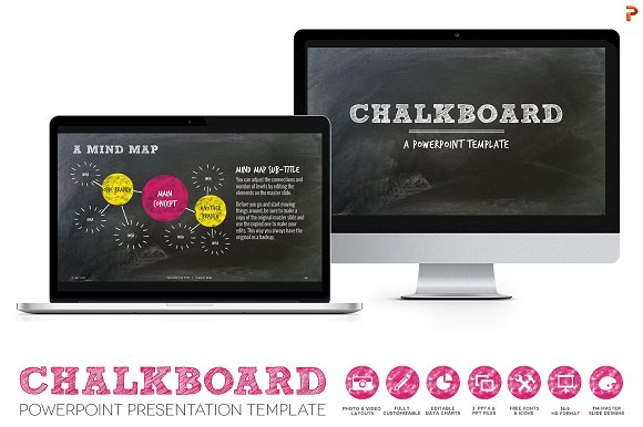 chalkboard powerpoint template presentation templates creative