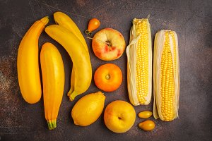 Assortment of yellow vegetables
