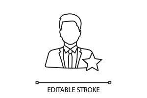 Actor or TV presenter linear icon