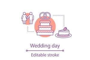 Wedding day concept icon