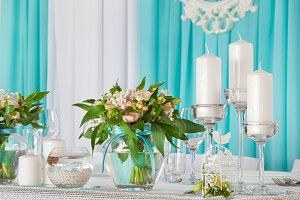 Decorated wedding table