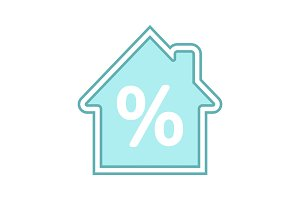 Mortgage interest rate color icon