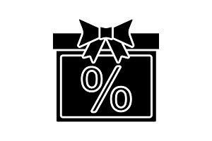 Sale glyph icon