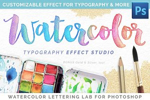 Watercolor Lettering Studio Pro