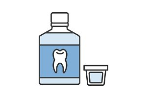Mouthwash color icon