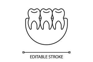 Healthy teeth linear icon