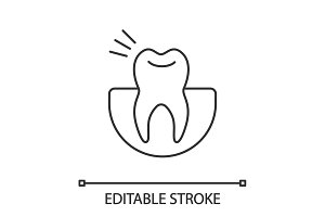 Toothache linear icon