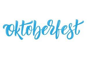 Oktoberfest. Lettering logo design