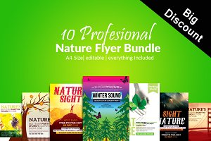 10 Nature Flyer Template Bundle