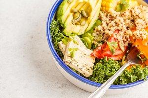 Vegan healthy rainbow salad
