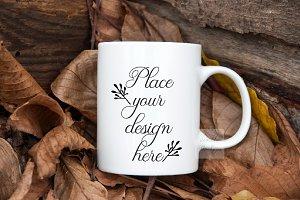 Autumn Fall Halloween Cup Mockup mug