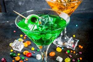 Spooky Halloween martini cocktail