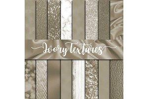 Ivory Textures Digital Paper
