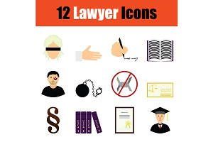 Lawyer icon set