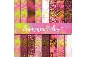 Summer Vibes Textures Digital Paper