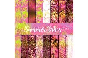 Summer Vibes Textures Digital Paper