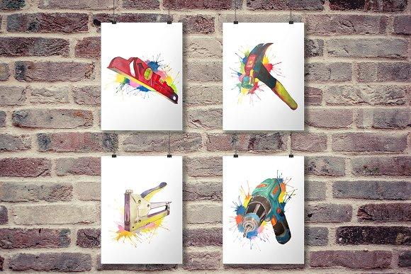 Toolbox Prints 4 Construction Tools