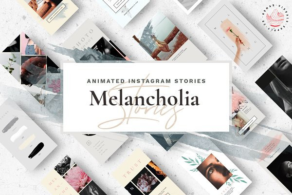 Social Media Templates: Nomad Visuals - Animated Stories - Melancholia