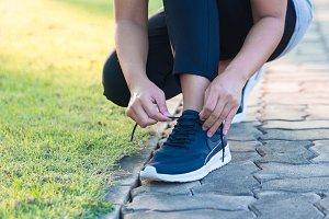 Healthy concept,Runner woman.