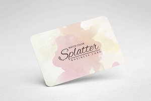 Splatter Watercolour Business Card