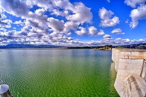 Reservoir from Bellus, Spain