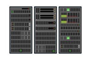 Set of computer server