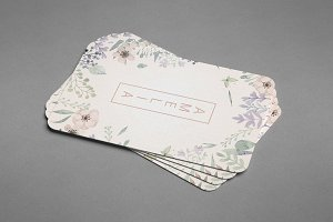Amelia Watercolour Business Card