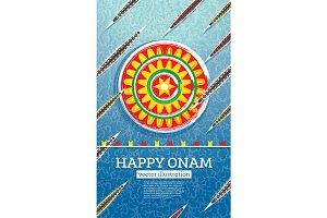 Onam Boat Festival Background.